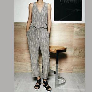 New Eileen Fisher Chain Print Sleeveless Jumpsuit